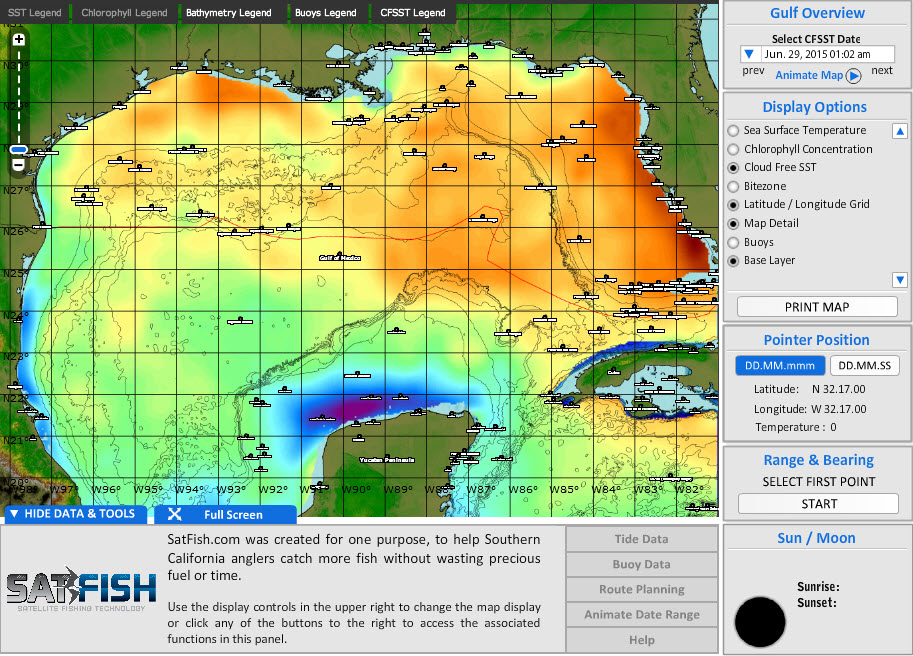 Gulf of mexico fishing chart satfish fishing charts for Types of fish in the gulf of mexico
